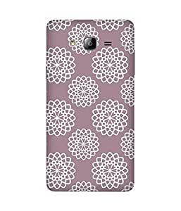 White Mandala Pattern Samsung Galaxy On5 Case