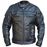 Australian Bikers Gear - Herren Lederjacke - Sturgis Sports Antikleder - CE-Protektoren