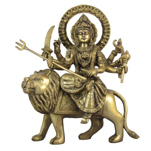 Statues For Home Hindu Goddess Durga Handmade Gifts Size: 24.13 x 7.62 x 30.48 cm