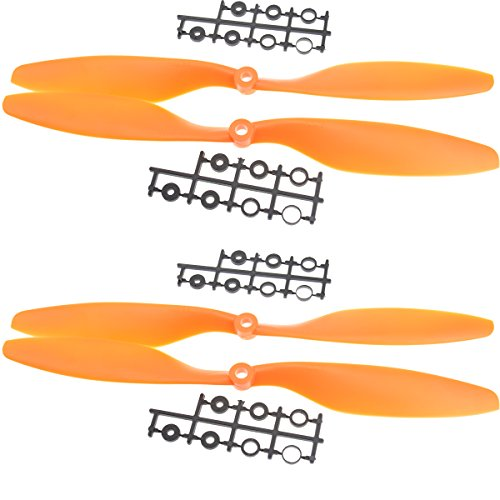"Jrelecs® 2 Pairs 10"" Blade Propeller 1045 Rc 4-axis X-axis Aircraft UFO Airplane Quadcopter Yellow"