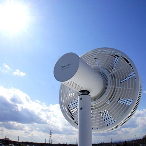 バルミューダ DCモーター 省エネ 扇風機 GreenFan Japan(グリーンファンジャパン)ホワイト×ブラック EGF-1500-WK 日本製