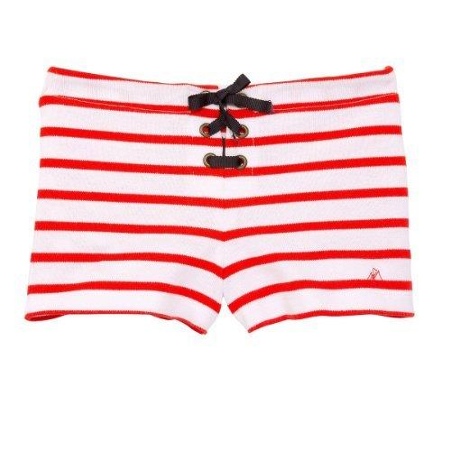 Petit Bateau - Shorts per bambine e ragazze, rosso (red), 3Y (37 inches)