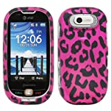 51oeFbbJIGL. SL160  Hot Pink Leopard Black Spot Rubberized Design Snap on Hard Cover Protector Faceplate Cell Phone Case for AT&T Pantech Ease P2020 + Premium LCD Screen Guard Film