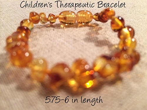 Baltic Amber Teething Bracelet For Babies And Toddlers Polished Honey front-858230