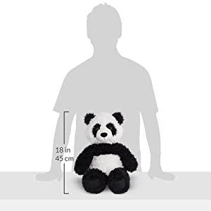 Vermont Teddy Bear Oh So Soft Panda Stuffed Animals and Teddy Bears, Black and White, 18 Inches (Amazon Exclusive) (Color: 18 Panda, Tamaño: 18)