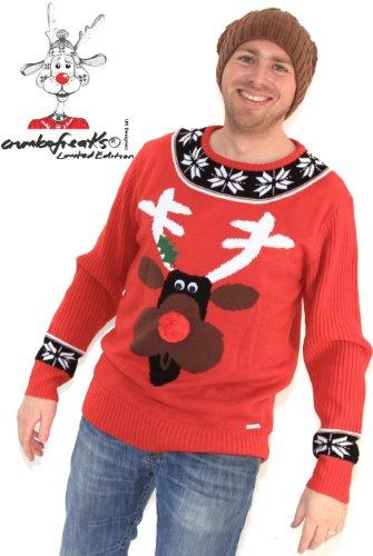 Mens Christmas Jumper - As Seen on TV- Rudolf Reindeer XLARGE