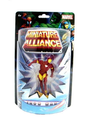 "Marvel Miniature Alliance 2.75"" PVC Figurine - Iron Man (Individually packaged on Blister Card)"