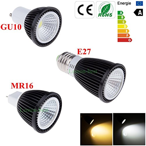 Super Bargain!!! New Model!! 6W Gu10 E27 Mr16 Ultra Bright Warm Cool White Cob Led Spotlight Globe Bulbs Lamp In Home