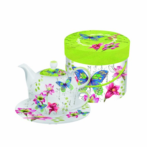 Paperproducts Design Tea Set Gift Box, Aporia Butterfly