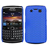 Samrick Mesh Hard Hybrid Armour Shell Protection Case for Blackberry 9700 Bold/9780 Bold - Blue