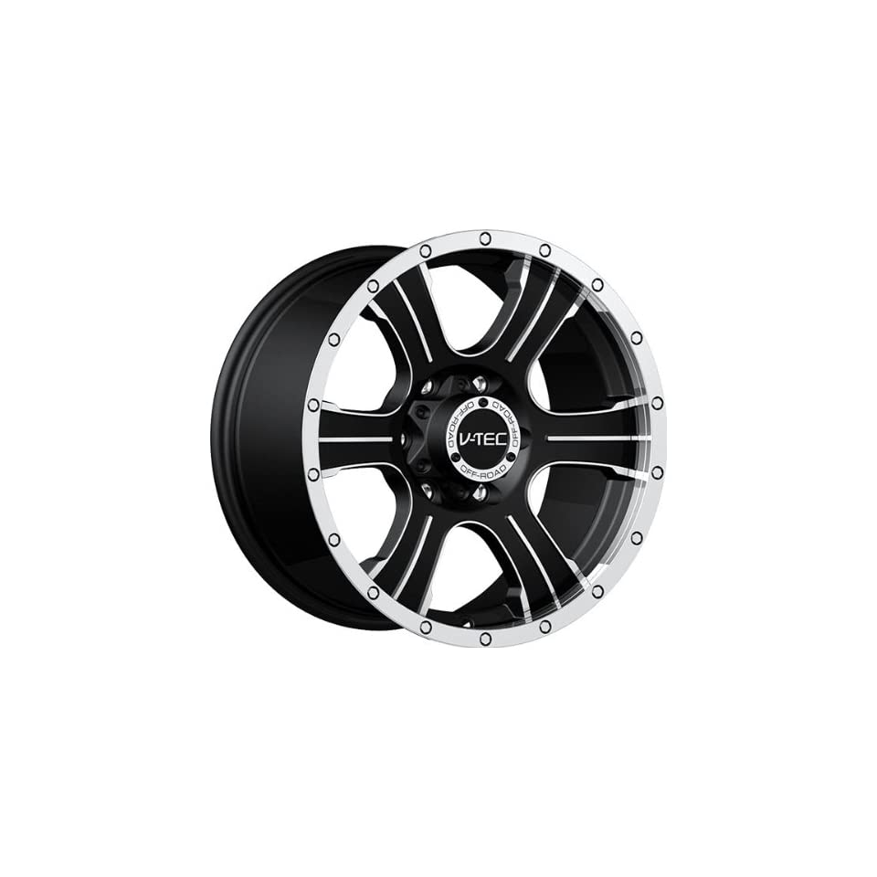 VISION WHEEL   396 assassin   17 Inch Rim x 8.5   (6x5.5) Offset (25) Wheel Finish   matte black machined face