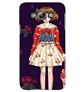 Printvisa Girl With An Umbrella Back Case Cover for Samsung Galaxy Grand Max G720