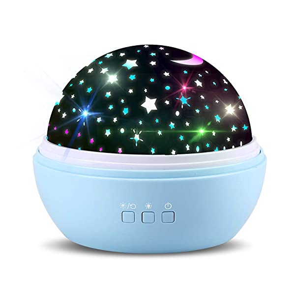 Newest Star/Ocean Rotating Ceiling Projector Night Lights for Kids Baby Bedrooms Nursery (Blue) - Best Unique Gifts for 1 to 12 Year Old Boys or Girls Christmas Birthday (Color: Blue)