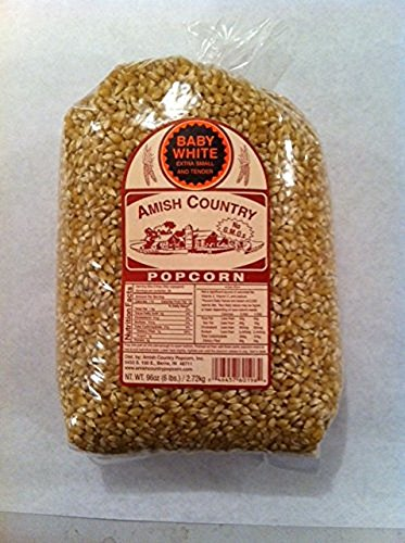 Amish Country Popcorn Baby White Large 6 Pound Bag (Popcorn Baby compare prices)