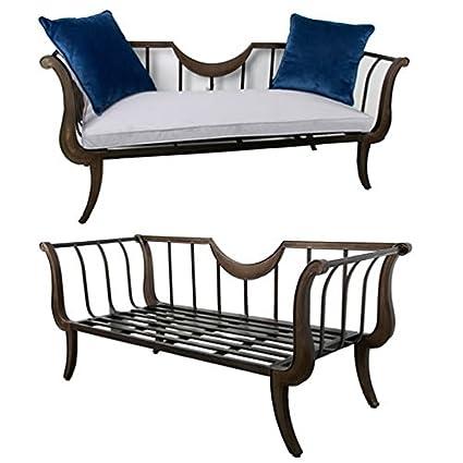 """Metal Sofa w/ Cushion & Pillows 71""""x28""""x30"""""""
