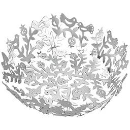 Passover Seder Plate Set - Yair Emanuel LASER CUT ALUMINUM SEDER BOWL SILVER (Bundle)