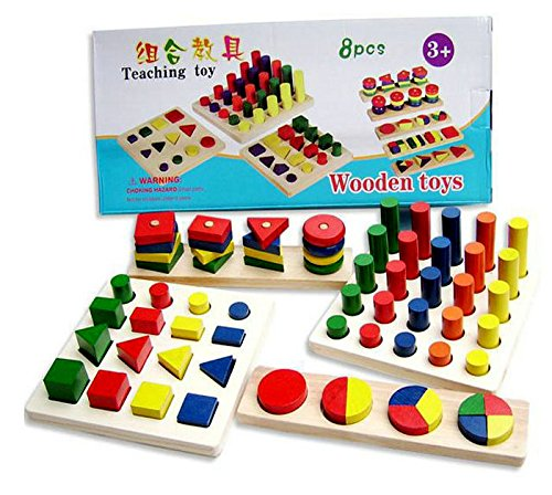 BIGFUNTOYSONLINE, NEW!!! Montessori Wooden Educational Materials - 8 pcs in a box!