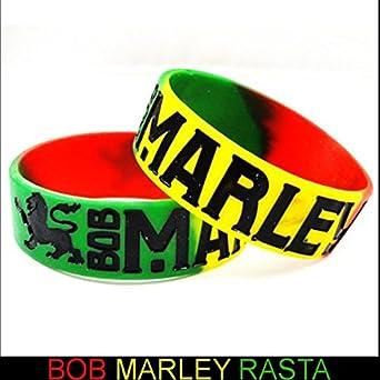 Amazon Com Bob Marley Rasta Color Designer Rubber Saying