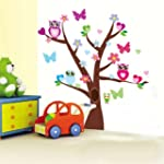 Restly(TM) Colored Cartoon Owl Tree W...