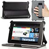 MoKo Slim-fit Cover Case for Google Nexus 7 Android Tablet by Asus, Carbon Fiber Black