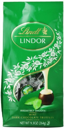 Lindt Lindor Mint Dark Chocolate Truffles 9.3 Ounce (Pack of 6)