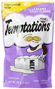 Whiskas 12-Pack Temptations Creamy Dairy Flavour Treats for Cats, 3-Ounce