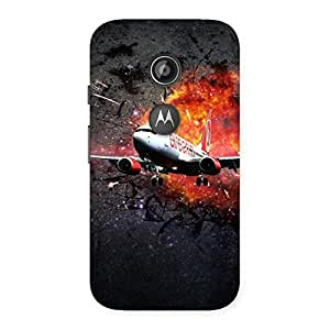Enticing Premier Blast Plain Multicolor Back Case Cover for Moto E 2nd Gen