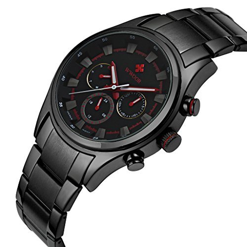 Herren-Luxus-24-Stunden-Datum-Woche-Uhren-Mnnlich-Kleid-Sport-Edelstahl-Army-Military-Armbanduhr-Rot