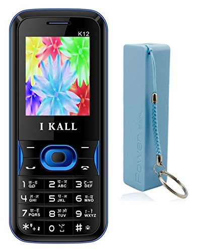 I Kall K12 Mobile Phone (Blue) & Power Bank Combo