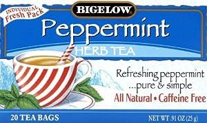 Bigelow Peppermint Herbal Tea 20.0 CT (Pack of 3)