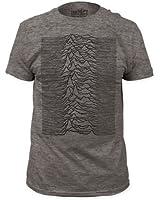 Joy Division - - Männer Unknown Pleasures T-Shirt in Heather Grey Ausgestattet
