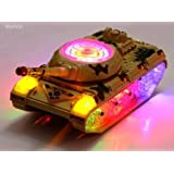 WolVol Bump & Go Action Electric Military Tank Fighter Toy with Lights and Sounds