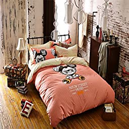 guoxian Queen Size 100% Cotton Quilts for Girls