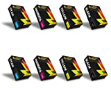 8 x Brother TN-241 Toner Cartridges Compatible with Brother DCP-9020CDW, HL-3140CW, HL-3150CDW, HL-3170CDW, MFC-9140CDN, MFC-9330CDW, MFC-9340CDW Printers (2BK,2C,2M,2Y)