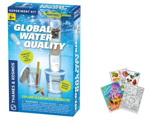 Thames & Kosmos 659288 Global Water Quality Science Experiments with Coloring Book