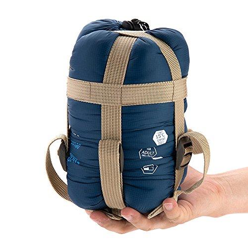 Lixada Busta esterna Sacco a pelo di campeggio di viaggio Trekking multifunzione ultra-light blu scuro