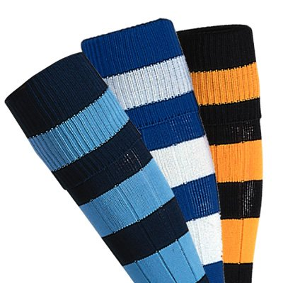 Prostar Mercury Hooped Playing Socks (Senior Black/Amber)
