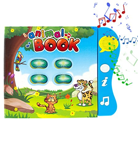Animal-Learning-Book-Educational-Toy-by-Boxiki-Kids-Activity-Book-for-Toddlers-Early-Baby-Development-Electronic-Animal-Book-Plays-Music-Learn-Animal-Names-Sounds-More-Best-Educational-Toy