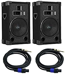 2) VM Audio VAS310P 1200W 3 Way 10\