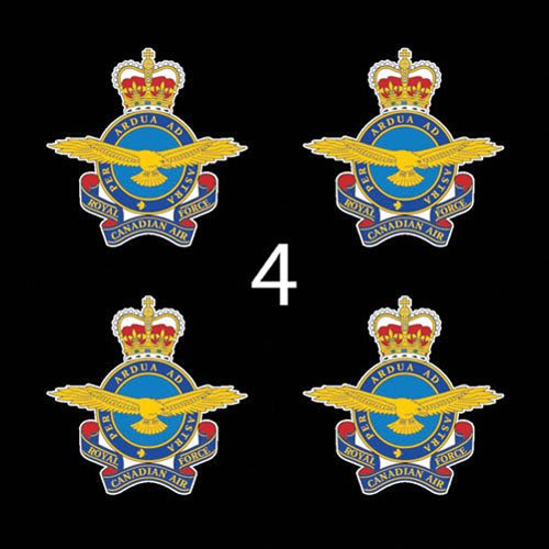 canada-royal-canadian-air-force-emb-3-4four-decal-sticker-lot