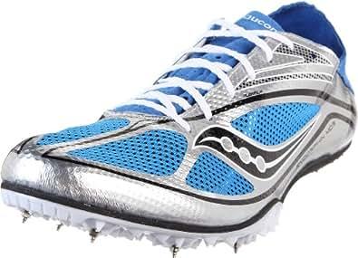 Saucony Men's Endorphin Spike MD3 Track Shoe,Silver/Blue/Black,7.5 M US