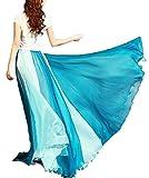 ふんわり エアリー ! 2 WAY シフォン ロング マキシ 丈 ワンピース ドレス 大人 レディース ファッション / ブラウン , ブルー , オレンジ , ピンク / M L XL 大きい サイズ あります !