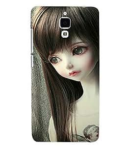 ColourCraft Cute Doll Back Case Cover for XIAOMI MI 4