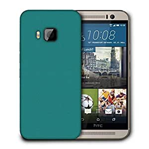 Snoogg Pixel Art Turquoise Printed Protective Phone Back Case Cover For HTC One M9