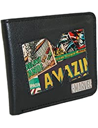 BB Designs Unisex Marvel Comic Logo Cut-Out Bilfold Wallet With Novelty Tin Enca