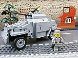 Modbrix 2366 - ✠ Wehrmacht Bausteine Panzerspähwagen Sd.Kfz. 222 inkl. custom Wehrmacht Soldaten aus original Lego© Teilen ✠ thumbnail