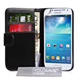 Yousave Accessories PU Leather Wallet Cover Case for Samsung Galaxy S4 Mini - Blackby Yousave Accessories