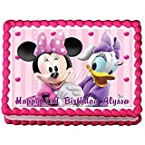 Minnie Mouse and Daisy Duck Edible Frosting Sheet Cake Topper - 1/4 Sheet