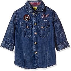 Seals Baby Boys' Shirt (AM8085_1_DENIM BLUE_1)
