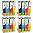 Compatible Epson Stylus SX445W Ink Cartridges 4X Black 4X Cyan 4X Magenta 4X Yellow (16-Pack)
